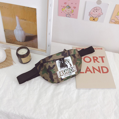 Kids Camouflage Chest Coin Casual Waist Bag