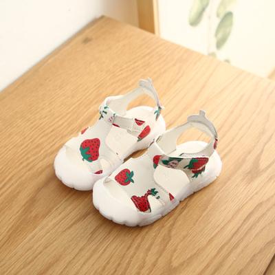 Kids Sweet Soft Bottom Baotou Strawberry Sandals