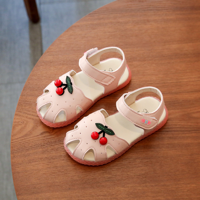 Kids Soft Bottom Princess Strawberry Hollow Sandals