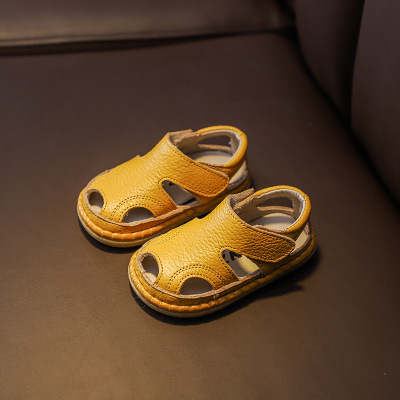Kids Soft Bottom Non-slip Boys Leather Shoes