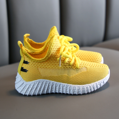 Kids Baby Flying Woven Mesh Breathable Shoes