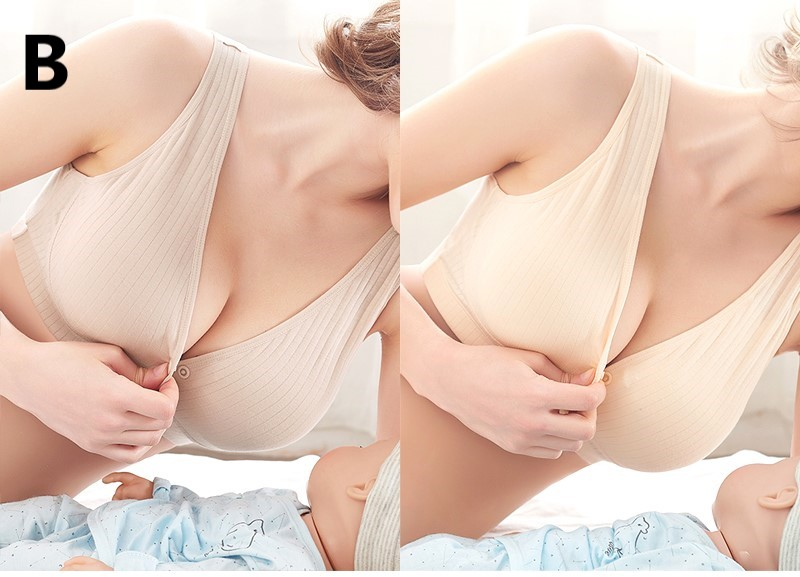 Maternity Clothing Cotton Breasting Anti-sag Bra