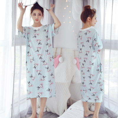 Women One Piece Dress Nursing Breast Feeding Pajamas Maternity Sleepwear