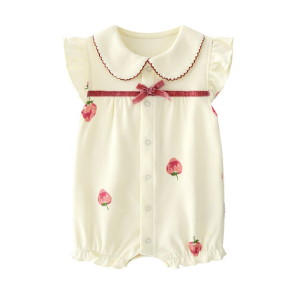 Baby Clothing Cotton Newborn Short Sleeve Climbing Suit