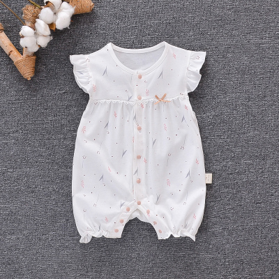 Baby Clothing Jumpsuit Short-sleeved Cotton Princess Summer Sleepwear