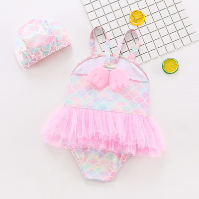 Baby Clothing Little Mermaid One-piece Fantasy Swimwear
