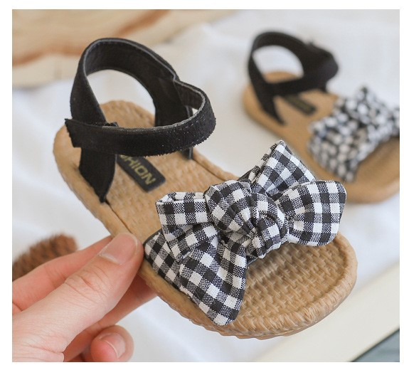 Kids Summer New Soft Bottom Cute Bow Shoes