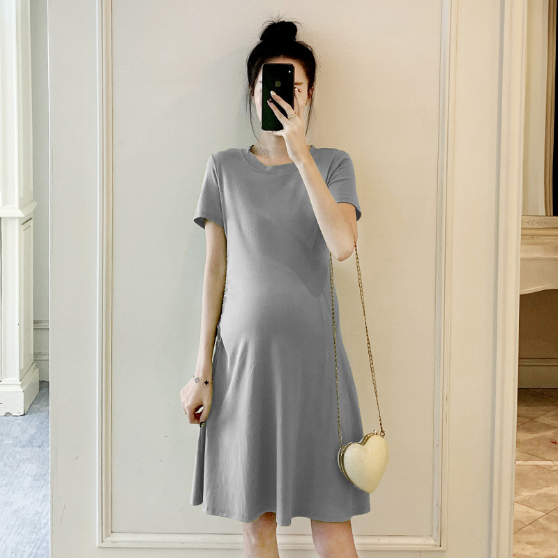 Maternity Clothing Simple Comfortable Summer Dress Pregnant Mom