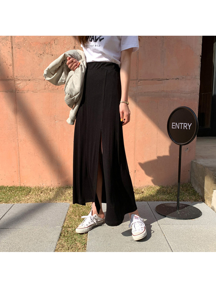 Maternity Clothing Summer Wear Long Cotton Skirt Stomach Lift for Pregnant Women