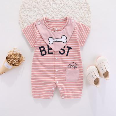 Baby Clothing Short-sleeved Cotton Newborn Pajamas Romper