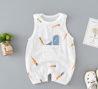 Baby Clothing Pure Cotton Summer Pajamas