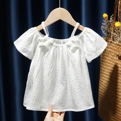 Kids Clothing Baby Round Neck Short-sleeved  Shirt