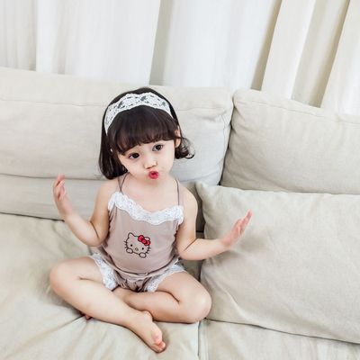 Kids Clothing Modal Cotton Pajamas Suspenders Shorts Two-piece Suit