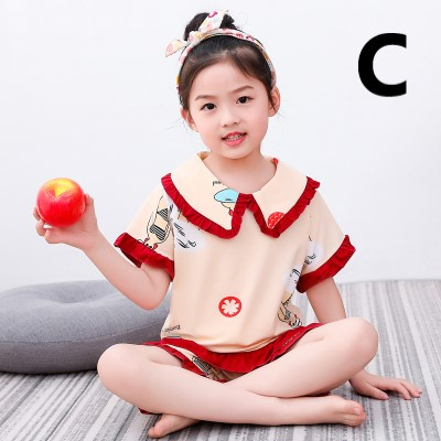 Kids Clothing Summer Short-sleeved Cotton Cute Suit