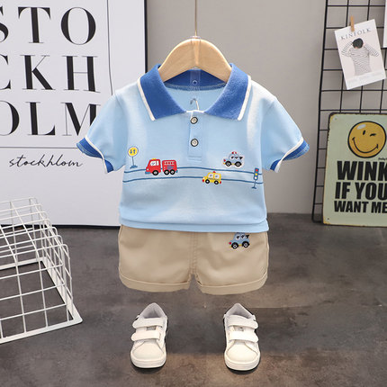 Kids Clothing Boy Short-sleeved Casual Suit