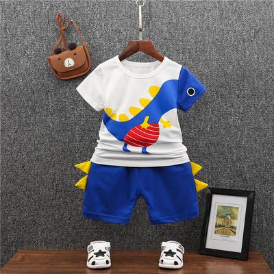 Kids Clothing Boy Short-sleeved Dinosaur Casual Suit