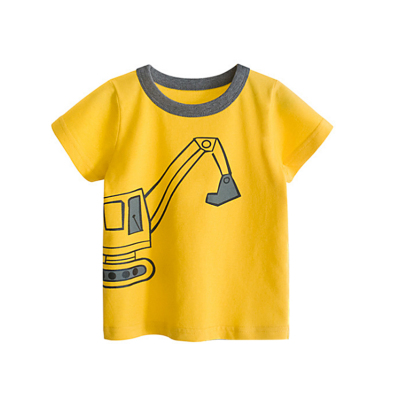 Kids Clothing Boy Cotton Short-sleeved Casual Shirt