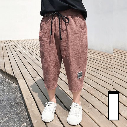 Kids New Casual Cropped Summer Trousers