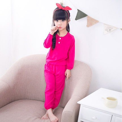 Kids New Pajamas Girls and Boys Long-sleeved Suit