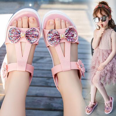 Kids Baby Princess Soft Bottom Bowknot Beach Sandals
