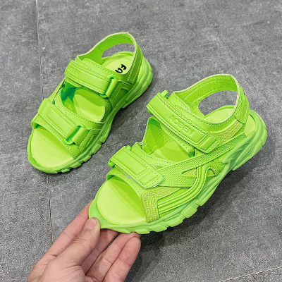 Kids Summer Princess Solid Color Breathable Shoes