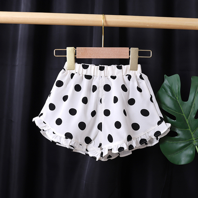 Kids Clothing Mid Waist Casual Lace Shorts