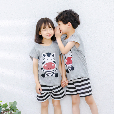 Kids Clothing Pure Cotton Short Sleeve Suit