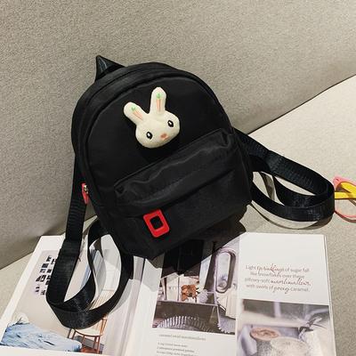 Kids Canvas Backpack Cartoon Cute Bunny School Bag