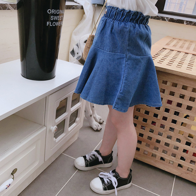 Kids Clothing Comfortable Baby Elastic Waist Denim Skirt