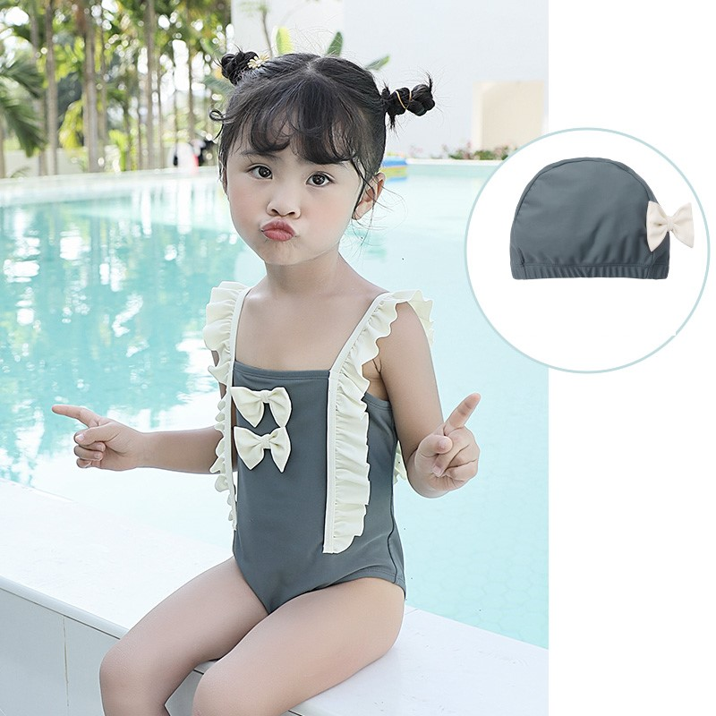 Baby Clothing Little Bow Princess One-piece Skirt Swimsuit