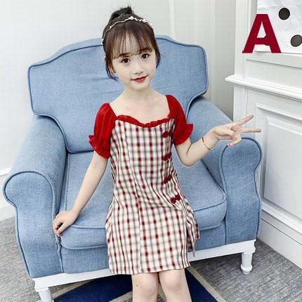 Kids Clothing Casual Girls Cheongsam Dress