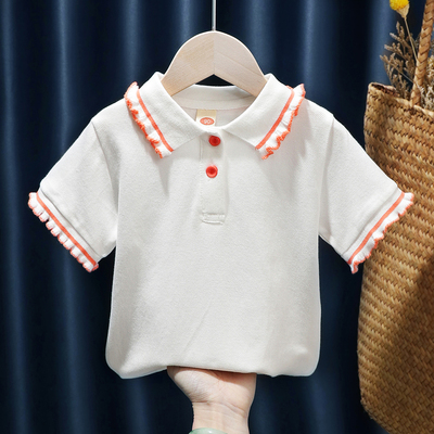 Kids Clothing Short-sleeved POLO Collar Casual T-shirt