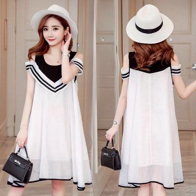 Maternity Clothing Short-sleeved Loose Summer Dress