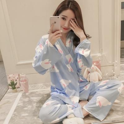 41d247c4167b1 Women Rabbit Kimono Nursing Breast Feeding Pajamas Maternity ...