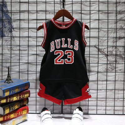 Kids Clothing Casual Sports Training Jersey Sleeveless Basketball Suit