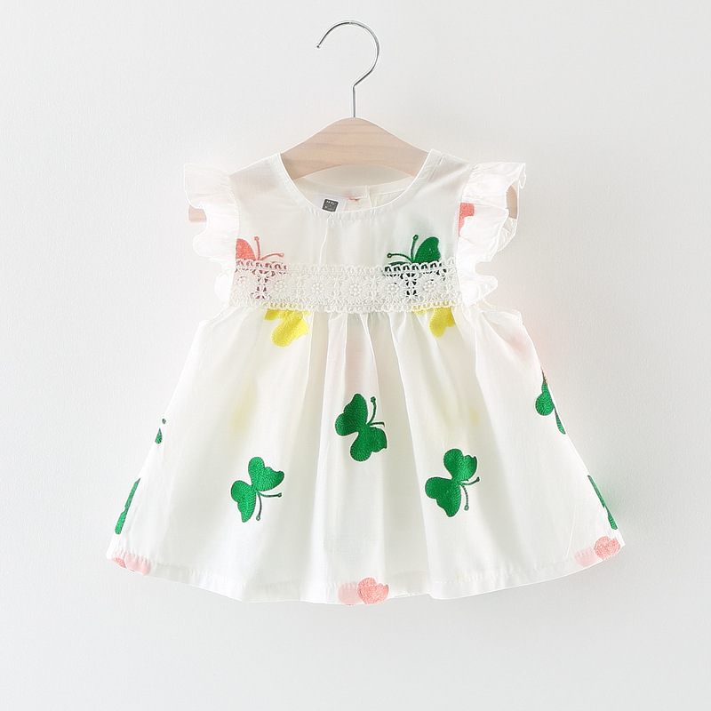 Baby Girl Cute Butterfly One Piece Dress Cotton Jumpsuit Rompers Bodysuit