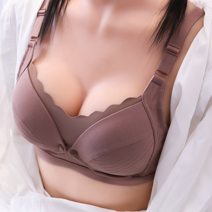 Maternity Clothing Pure Cotton Breastfeeding Bra