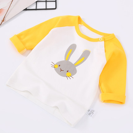 Baby Boy Girl Cute Cotton Animals Graphic Long Sleeve T-Shirt Tops