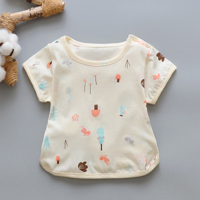 Baby Boy Girl Cute Yellow Forest Cotton Short Sleeve T-Shirt Tops