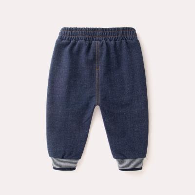 Baby Girl Boy Cute Elastic Plain Denim Jeans with Pockets Long Pants