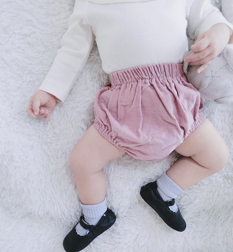Baby Girl Boy Cute Comfortable Elastic Plain Short Pants