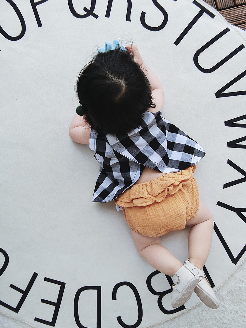 Baby Girl Boy Korean Style Pink Elastic Cotton Short Pants