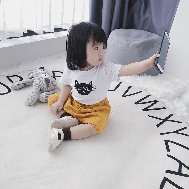 Baby Girl Boy Cute Elastic Linen Cotton Pockets Short Pants