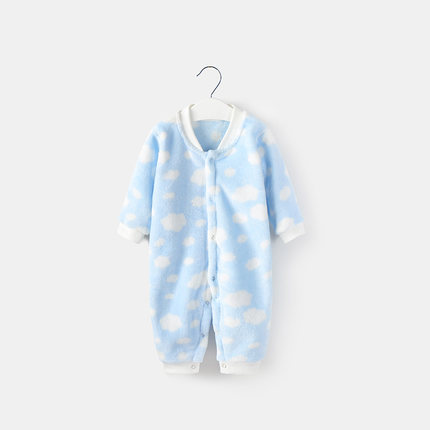 Baby Girl Boy Cute Keep Warm Cloud Long Sleeve Pajamas Sleepwear