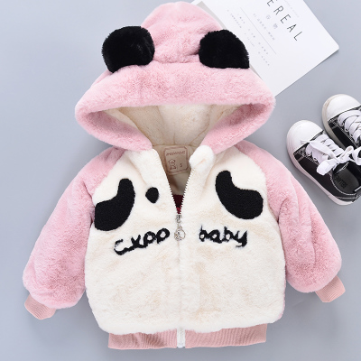 Baby Newborn Girl Boy Cute Panda Hooded Winter Travel Keep Warm Jacket