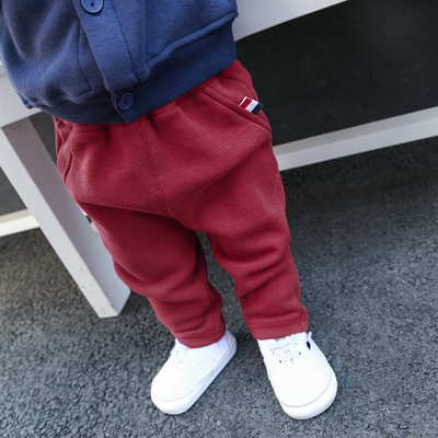 Baby Newborn Girl Boy Wine Red Corduroy Harem Winter Travel Keep Warm Pants