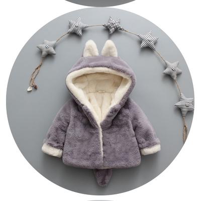 Baby Newborn Girl Boy Animals Ears Hooded Winter Travel Keep Warm Jacket