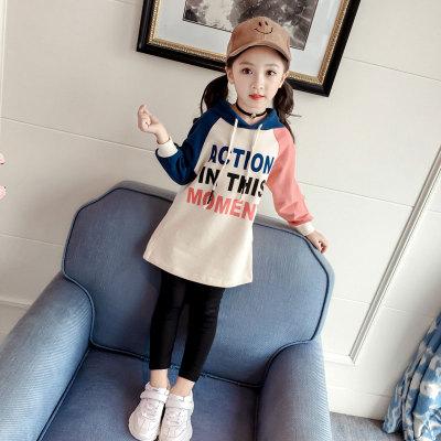 Kids Children Girl Cute Europe Hooded Hoodie T-Shirt Long Sleeve A Shape Dress